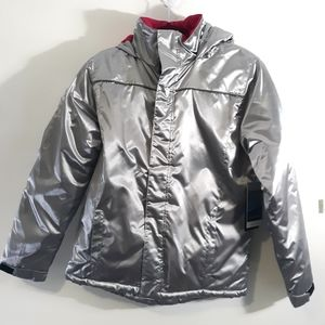 NWT Iceburg silver and hot pink winter jacket XL